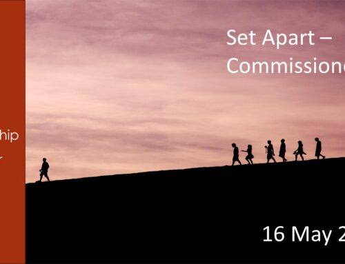 Set Apart – Commissioned